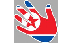 drapeau Corée du nord main