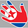 drapeau coree du nord main