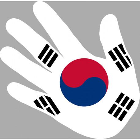 drapeau coree du sud main