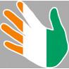 drapeau Cote d'Ivoire main