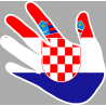 drapeau Croatie main