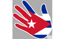 drapeau Cuba main