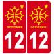 sticker immatriculation 12