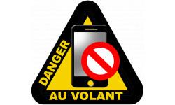 autocollant smartphone danger au volant