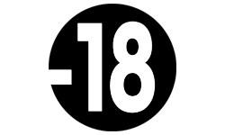 Autocollants : autocollant interdit moins 18 ans noir