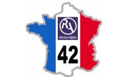 autocollant FRANCE 42 Région Rhône Alpes