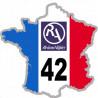 autocollant FRANCE 42