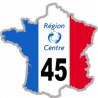 autocollant FRANCE 45