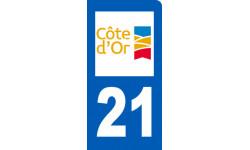 Autocollants : immatriculation motard de la Cote d'Or