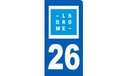 immatriculation motard de la Drôme