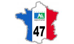 autocollant FRANCE 47