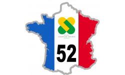 autocollant FRANCE 52