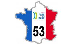 autocollant FRANCE 53