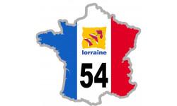 autocollant FRANCE 54