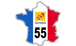 autocollant FRANCE 55