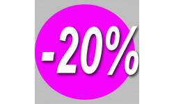 Stickers / autocollant Rond 20%