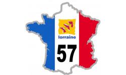 autocollant FRANCE 57