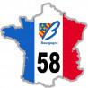 autocollant FRANCE 58