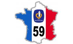 Autocollants : autocollant FRANCE 59