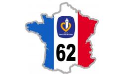 autocollant FRANCE 62