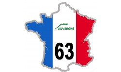 autocollant FRANCE 63