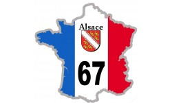 sticker / autocollant FRANCE 67