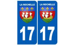 autocollant numéro immatriculation ville de la Rochelle