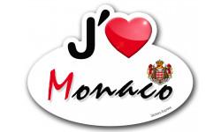 autocollant j'aime Monaco