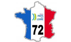 Autocollants : sticker / autocollant FRANCE 72 région Pays de la Loire