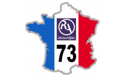 sticker / autocollant FRANCE 73 Rhône Alpes