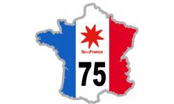 Autocollants : sticker / autocollant FRANCE 75 Région Ile de France