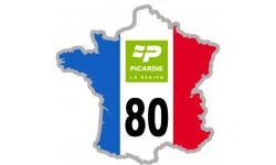 sticker / autocollant FRANCE 80 Région Picardie