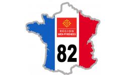 sticker / autocollant FRANCE 82 Midi Pyrénées