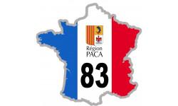 sticker / autocollant FRANCE 83 Région PACA