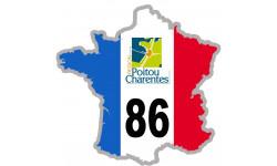 sticker / autocollant FRANCE 86 Région Poitou Charentes