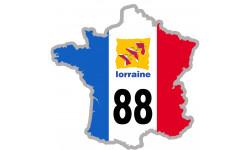 sticker / autocollant FRANCE 88 Région Lorraine