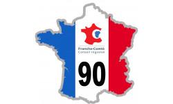 sticker / autocollant FRANCE 90 Région Franche Comté