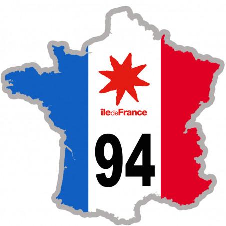 Autocollants : sticker / autocollant FRANCE 94 Région Ile de France