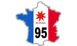 sticker / autocollant FRANCE 95 Région Ile de France