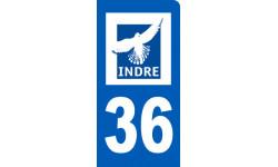 autocollant immatriculation 36 motard de l' Indre