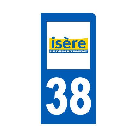 Autocollants : autocollant immatriculation 38 de l'Isère
