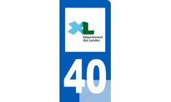 autocollant immatriculation 40 des Landes