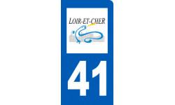 Autocollants : autocollant immatriculation 41 du Loir-et-Cher