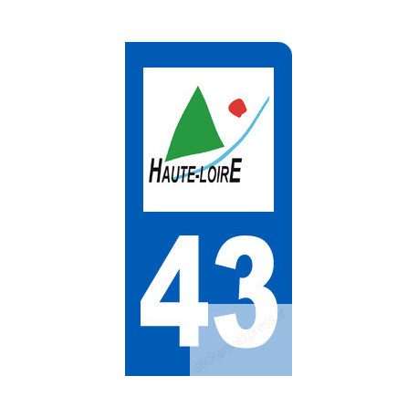 autocollant immatriculation 43 de la Haute-Loire