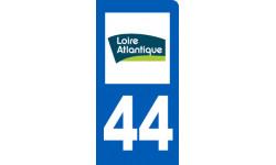autocollant immatriculation 44 de la Loire-Atlantique