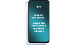 Autocollants : Smartphone respecte les autres (15x8cm)