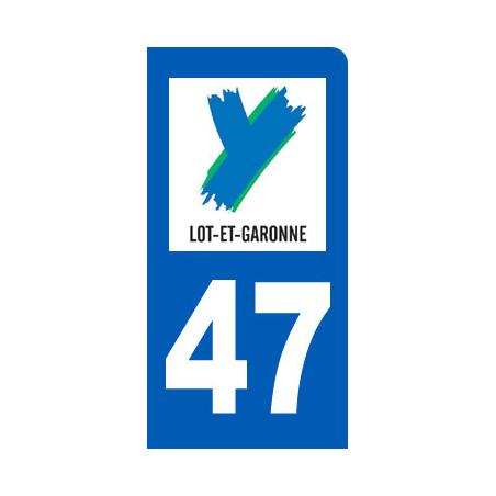 autocollant immatriculation motard 47 le Lot et Garonne