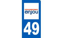 autocollant immatriculation motard 49 du Maine et Loire