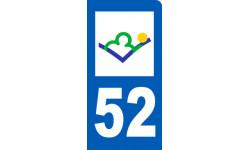 autocollant immatriculation motard 52 de la Haute Marne