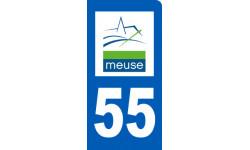 autocollant immatriculation motard 55 de la Meuse